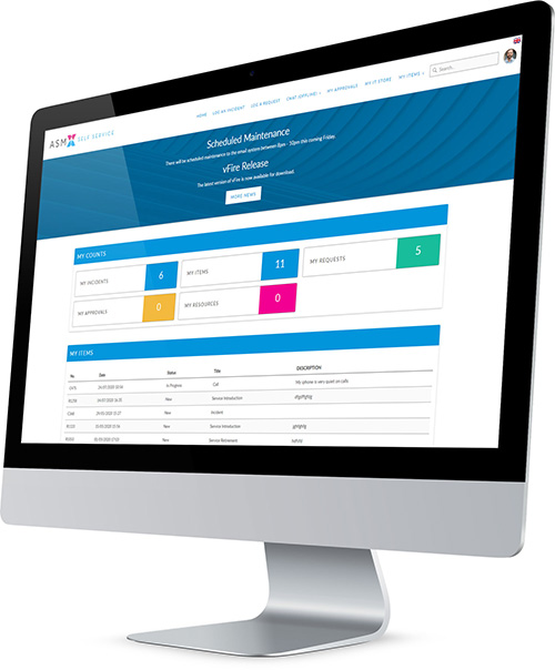 Alemba Service Manager - Self Service Customer Portal