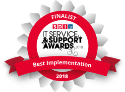 SDI Best Implementation of an ITSM Solution Finalist
